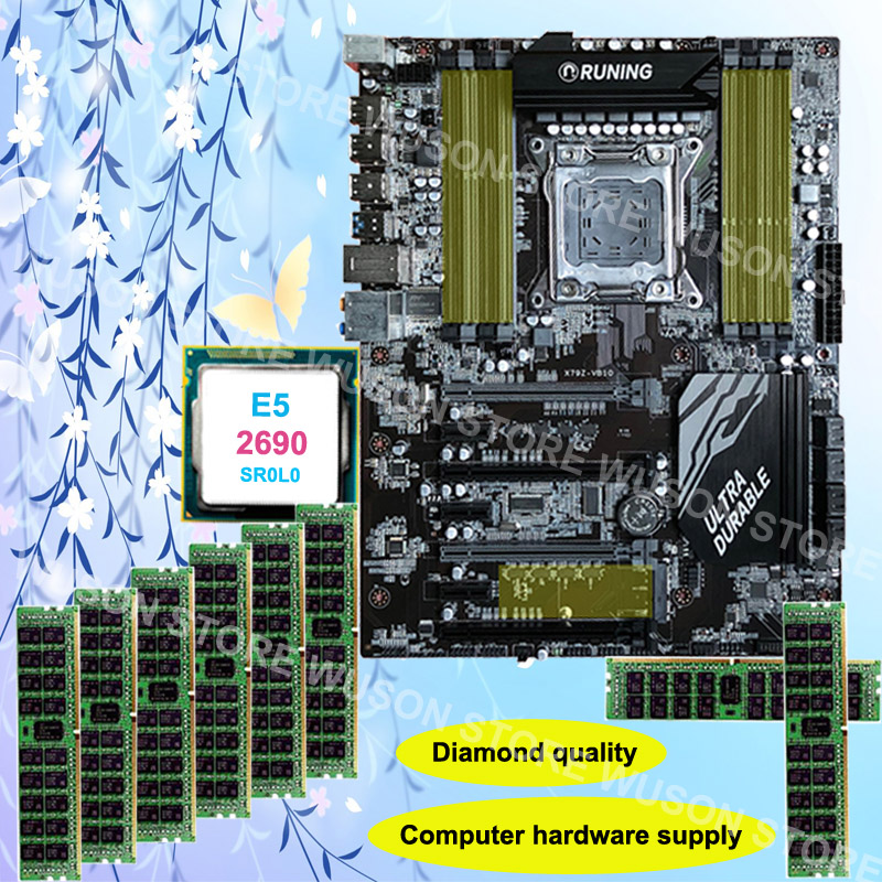 Diamond Quality Runing Super X79 gaming motherboard support max 8*16G 1866 CPU Xeon E5 2690 C2 2.9GHz RAM 32G(8*4G) DDR3 REG ECC super quality guarantee brand new runing x79 gaming motherboard cpu intel xeon e5 2640 v2 2 0ghz memory 16g 4 4g ddr3 reg ecc