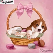 Dispaint Full Square/Round Drill 5D DIY Diamond Painting dog basket scenery 3D Embroidery Cross Stitch 5D Home Decor A12299 dispaint full square round drill 5d diy diamond painting dog cup scenery 3d embroidery cross stitch 5d home decor a12299
