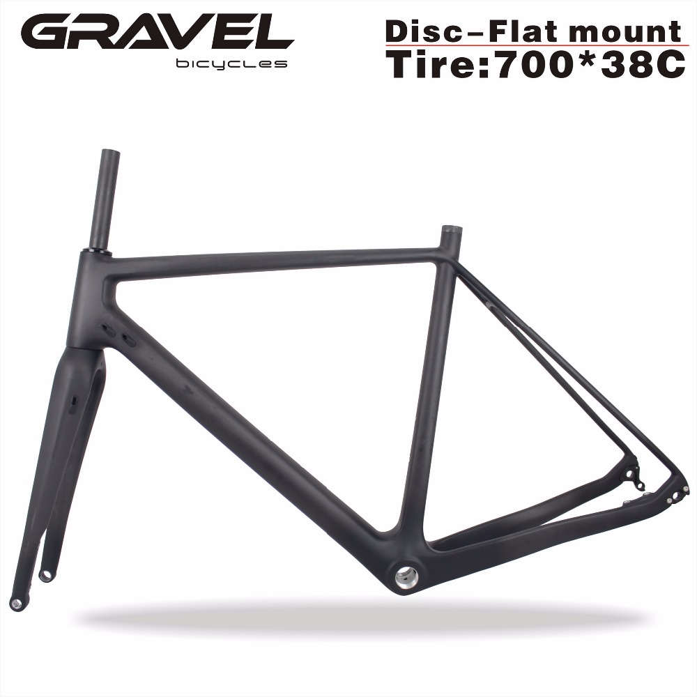 цена на Miracle bikes Thru Axle 142mm Available Gravel 700C Carbon Bike Frame,Gravel Di2 Carbon Cyclocross Frame Disc