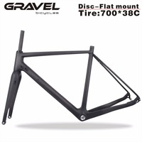Miracle Bikes Thru Axle 142mm Available Gravel 700C Carbon Bike Frame Gravel Di2 Carbon Cyclocross Frame