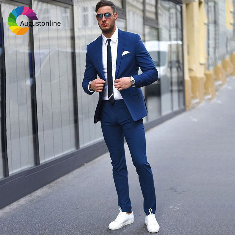 Bleu Pièces custom Image as Hommes as Homme Veste The Pour Pantalon Marine Slim 2018 Color Blazers As Décontractée Costumes Costume D'affaires Smokings Sur Fit 2 Marié Image Image Mesure E4gCTwcwSq