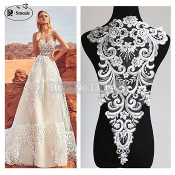 bordado de encaje flores calcomanías accesorios vestidos de boda