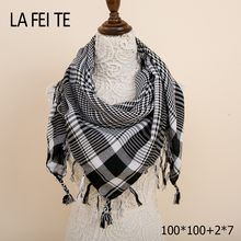 9c4b6a8e430e Plaid Carré Bandana Coton D hiver Écharpe Femmes Chaud Châle Foulard Femme  Tête Cou Cheveux Viscose Hijab Femmes Foulard Pour Le.