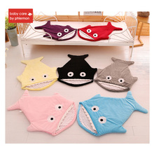 Babycare Warm Baby Sleeping Bag Winter Autumn Infant Newborn Soft Cotton Thick Sweet Cartoon Shark Blanket