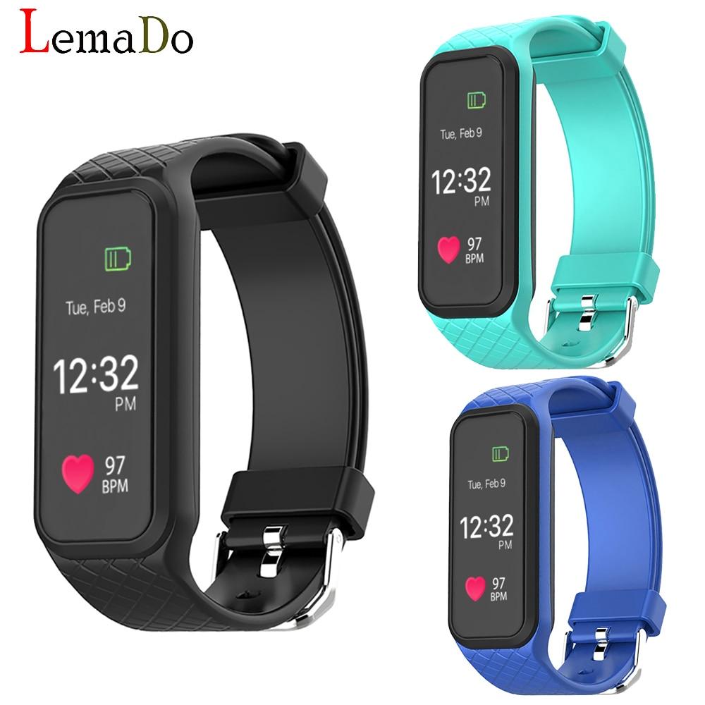 imágenes para LEMADO L38I Inteligente Bluetooth Banda Dinámica Pulsómetro Pulsera Inteligente para IOS Android Smartphone
