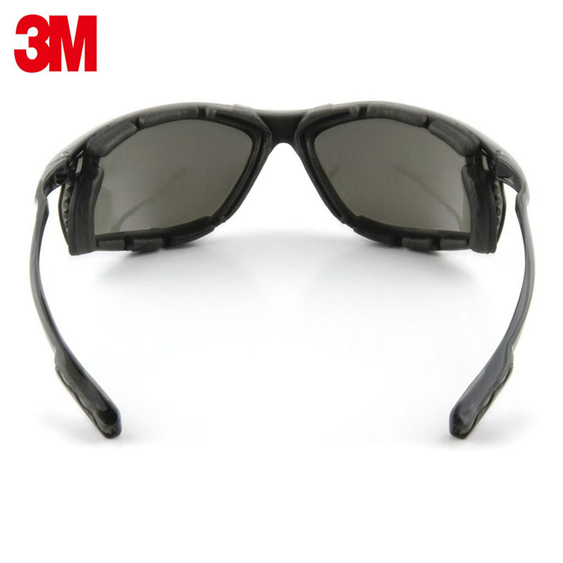 Image 3 - 3M 11873 goggles Genuine security 3M safety goggles Foam pad Frame Wearable earplugs Riding a sport protective glasses-in Safety Goggles from Security & Protection