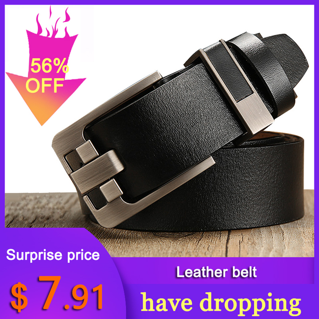 [LFMB]belt male leather belt men strap male genuine leather luxury pin buckle belts for men belt Cummerbunds ceinture homme 10