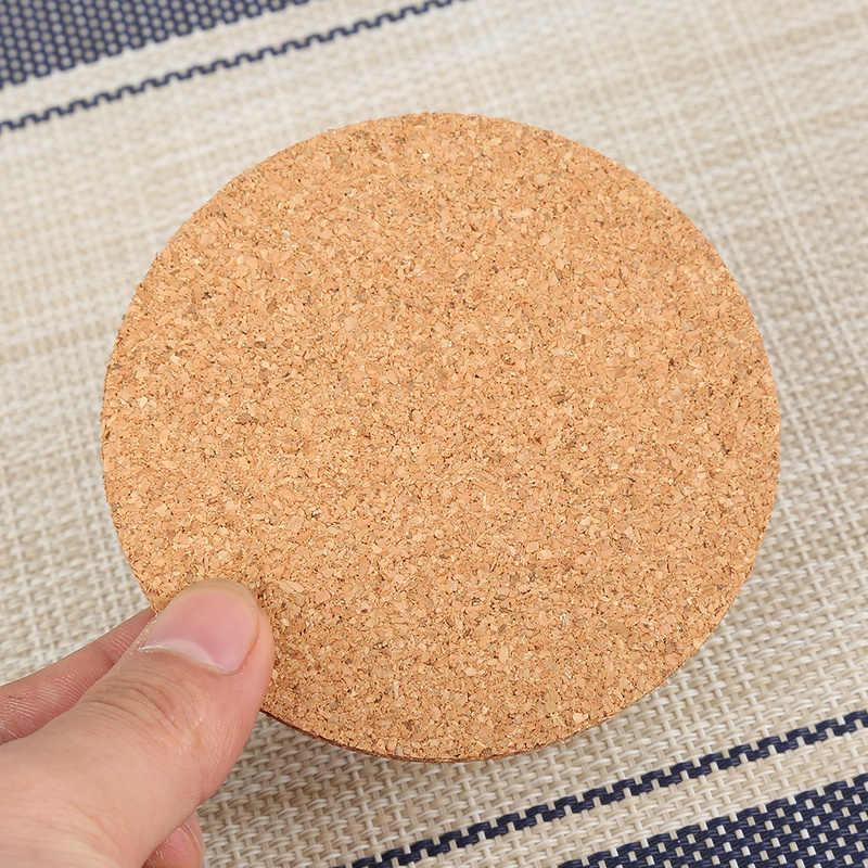 1 piezas de aislamiento de calor de corcho claro Montaña Rusa café vino taza de té Mat Pad Oficina hogar estera no- slip Tablewarecoasters