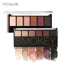 FOCALLURE Nude Matte Eyeshadow Palette Pigmented Smokey Eye Makeup Long-lasting Shimmer Eyeshadow(China)