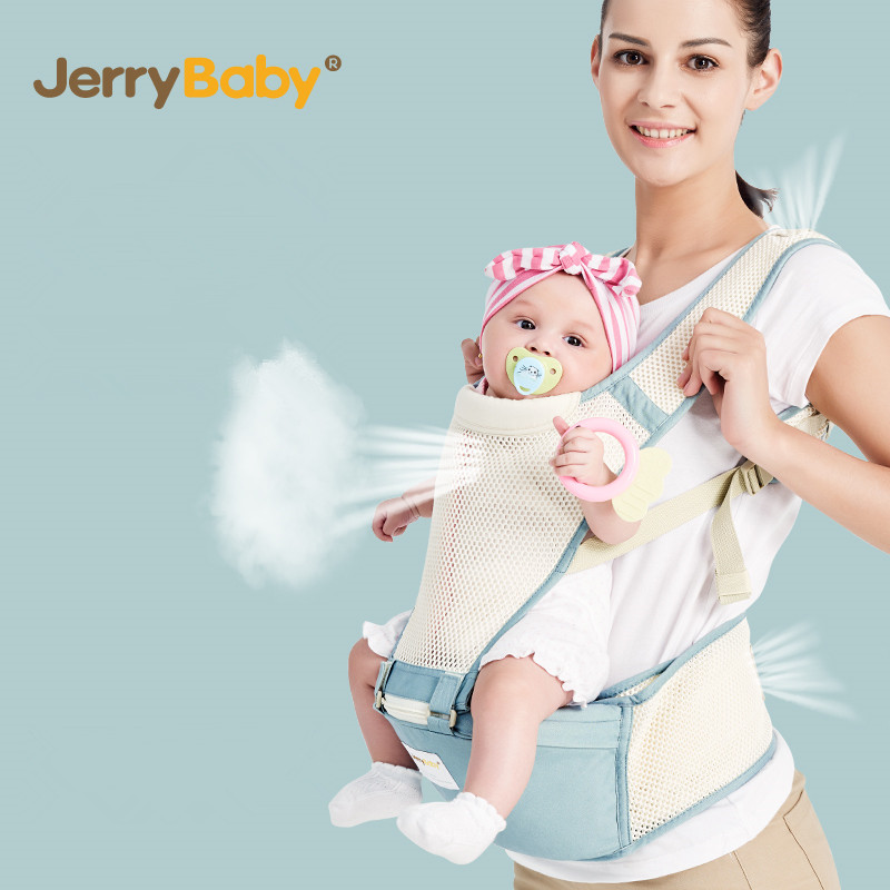 JerryBaby Baby Carrier Multifunctional Breathable Kangaroos BackPack Infant Sling Carrier Hip Seat Baby Carrier for All