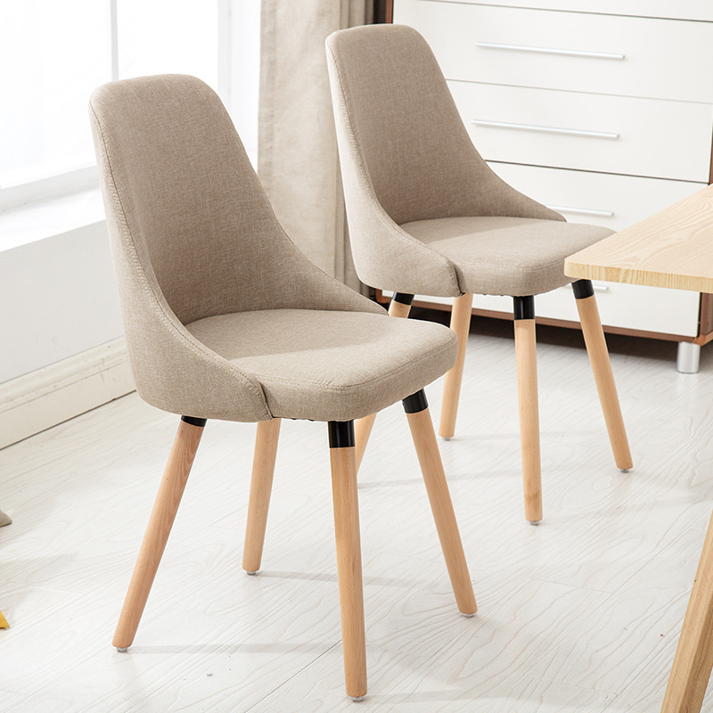 Solid Wood Modern Brief Casual Chair Nordic Commerical  Cafe Chair Hotel Wood Cafe Furniture  Party Chairs 5 Colors Dropshipping