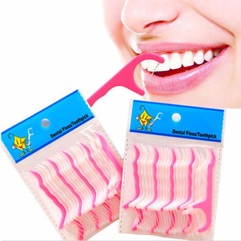 Jednorazowe Plastikowe nici dentystyczne 50 Sztuk