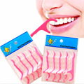 2017 New 50 Pcs/Lot Disposable Plastic Toothpicks Teeth Cleaning Dental Flosser Whitening Teeth Care Tools Cleaning Mouth