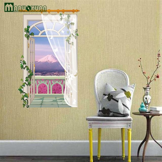 Maruoxuan 3d Lavender Fake Window Bathroom Label Bedroom Living Room Sofa  Background Vinyl Wall Art Home