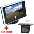 2 em 1 sistema de Assistência De Estacionamento Auto 9LED Traseira Do Carro CCD visão Câmera de Visão Traseira Com 3.5 polegada LCD Car Video Monitor de backup câmera