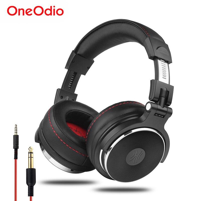 Oneodio filaire professionnel Studio Pro DJ casque avec Microphone sur l'oreille HiFi moniteurs musique casque écouteur pour téléphone PC