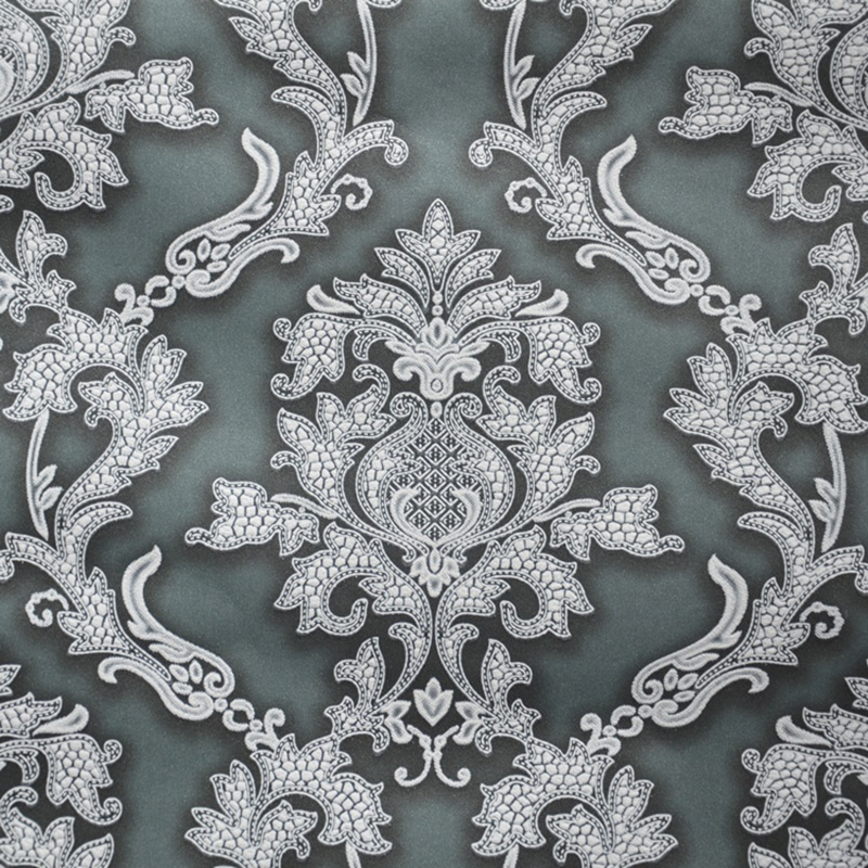 European Vintage Damask Wallpaper Wall Coverings Dark Red Blue Coffee Beige For Hotel Living Room M Rolls In Wallpapers From Home Improvement On