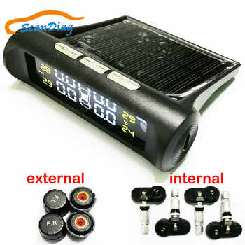 SCANDIAG Wireless Solar TPMS Car Tire Pressure Monitoring System Solar Charging Internal / External Sensors Tyre TPMS - SALE ITEM Automobiles & Motorcycles