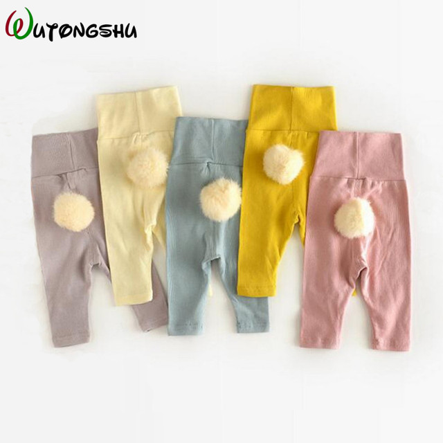 Newborn Clothes Baby Girl Boy Pants Elastic Solid Casual Kids Trousers Autumn & Winter 0-24M Children Baby Girls Leggings
