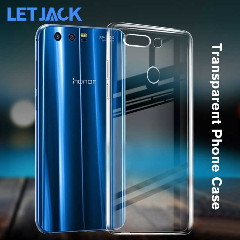 Clear Silicon Soft TPU Case for Huawei Honor 10 9 Youth 8 Lite Transparent Phone Case for Honor V8 V9 6A 6X 7X 8X Play Cover