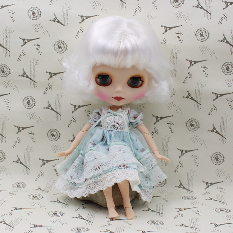 Blyth nude doll with joint body White hair Cute Bjd doll with four colors big eyes 12 fashion dolls for girls gifts. bjd doll 1 6 boneca negra blyth doll with joint body bonecos colecionaveis blyth nude doll baby dolls for girls