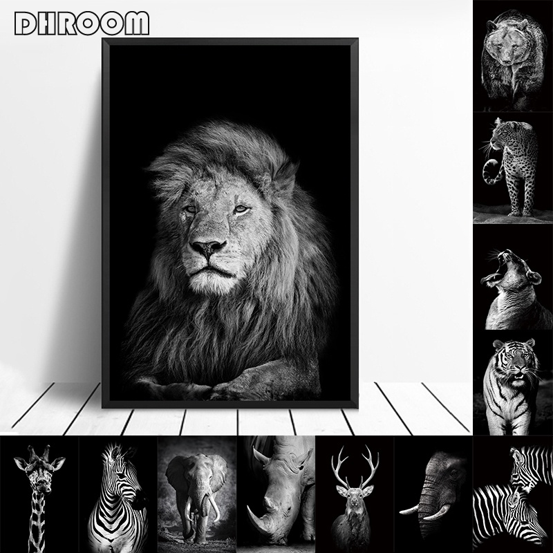 HTB1Fpo4aUCF3KVjSZJnq6znHFXam Nordic Canvas Art Painting Wall Art Animal Canvas Painting Lion Zebra Wall Pictures posters Print for Living Room Home Decor