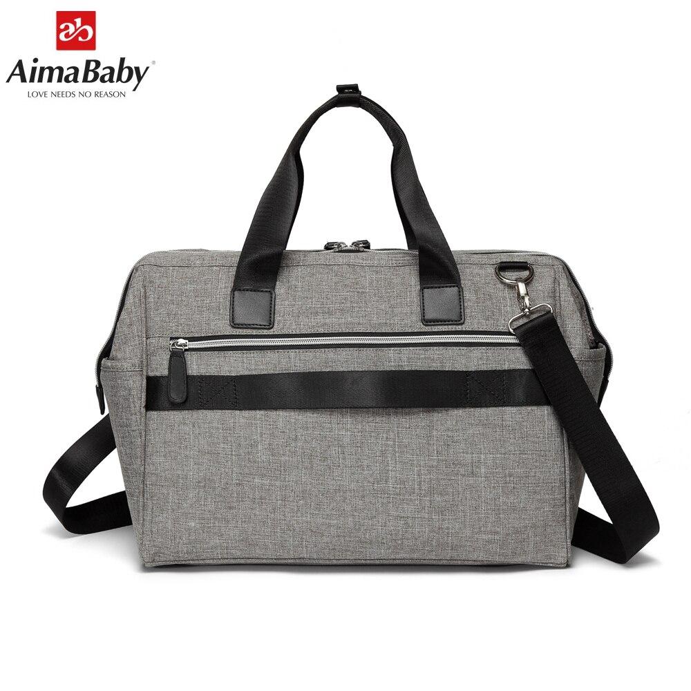 Aimababy grand sac à langer organisateur marque Nappy sacs bébé voyage maternité sacs pour mère bébé poussette sac à main couche - 4