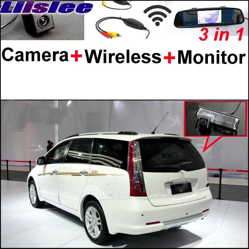 Liislee Special Rear View Camera + Wireless Receiver Mirror Monitor Parking System For Mitsubishi Grandis Space Wagon 2003~2011 цена
