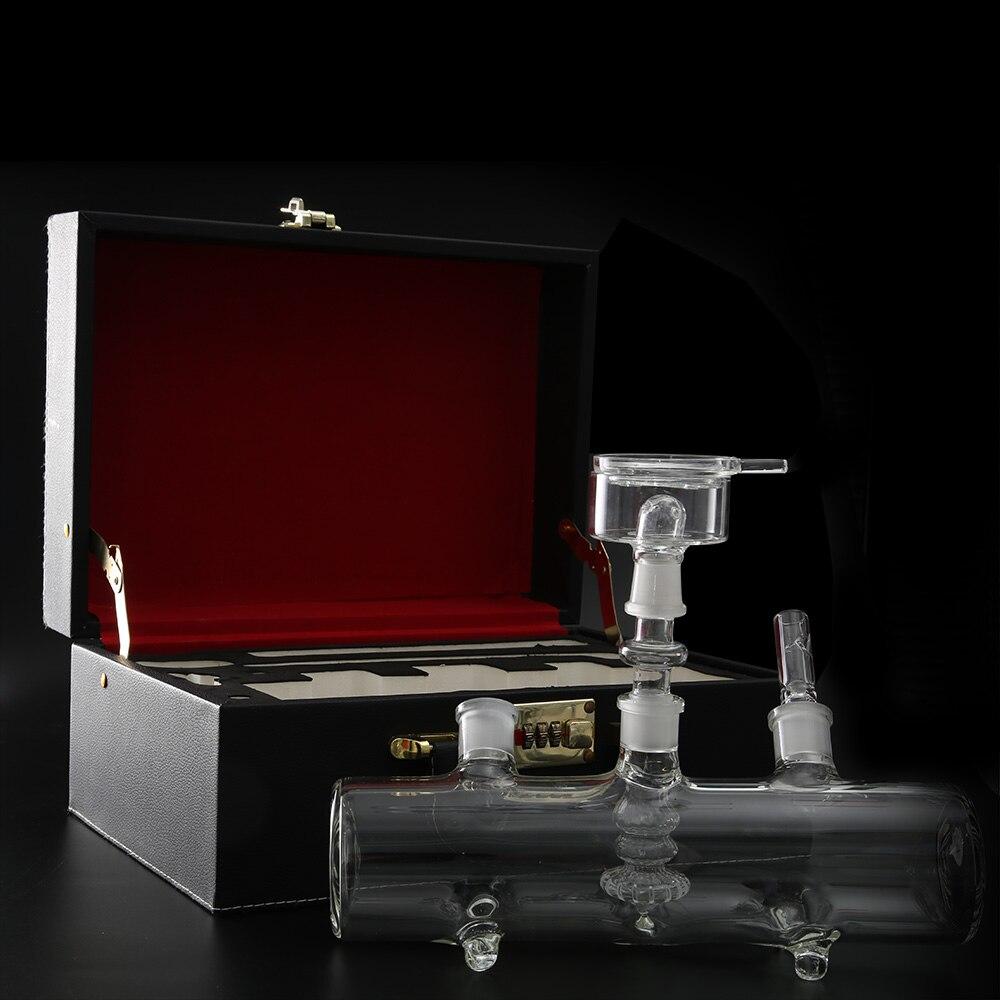 stabilna namizna nargila steklo shisha MP5 posoda steklena cev silikonska cev črna potovalna usnjena torba chicha waterpijp sisha narguile