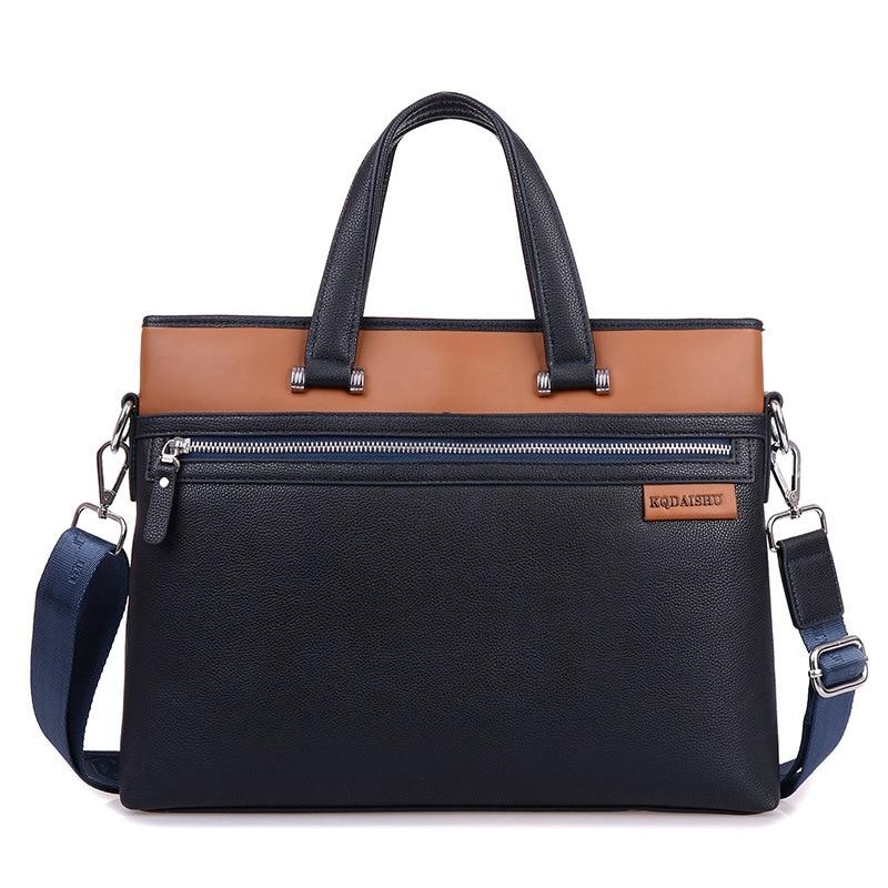 Fashion Vintage Large Capacity Leather Briefcase Men Business Laptop Tote Bags Men's Leather Messenger Shoulder Bag Handbags все цены