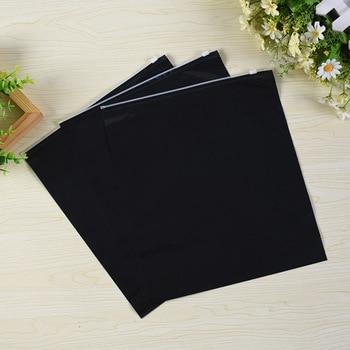 100pcs Double-sided black clothing underwear socks packaging zipper bags PE zip lock plastic bag large storage travel pocket