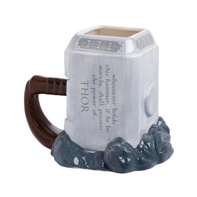 Thor קפה ספלי קרמיקה פטיש בצורת כוסות וספלים גדול קיבולת מארק creative drinkware