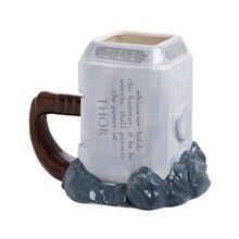 Thor tazas de café martillo de cerámica tazas en forma de hoja y tazas de gran marca de capacidad creativo drinkware