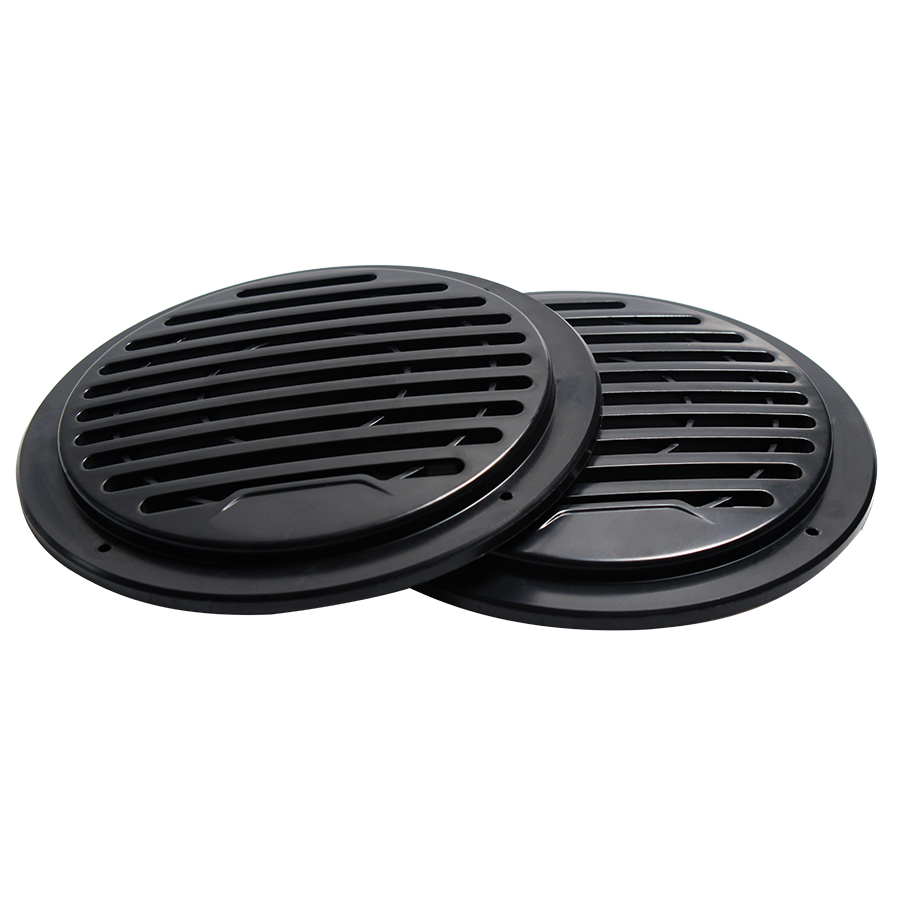 2PCS 3 INCH 4.5 INCH Speaker Plastic Mesh Cover Audio Decorative Ring Grill Mesh Enclosure Net Protective Cover Subwoofer DIY