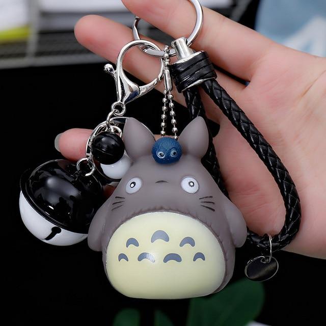 My Neighbor Totoro Animal Keyring Fur Men Or Women Keychain Women Trinket Metal Key Chains Car Bag Pendent Charm