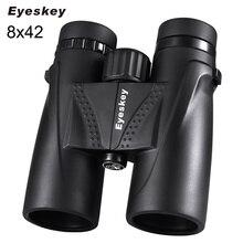 ציד משקפת 8x42 Eyeskey משקפת עמיד למים טלסקופ Bak4 פריזמה קמפינג ציד סקופס עם צוואר רצועה החלקה