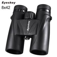 Avcılık dürbün 8x42 Eyeskey dürbün su geçirmez teleskop Bak4 prizma kamp avcılık kapsamları için boyun askısı ile kaymaz