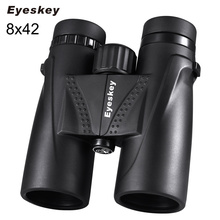 Binoculares de caza binoculares Eyeskey 8x42, telescopio impermeable, Prisma Bak4, acampada, Visión de caza con correa para el cuello, antideslizantes