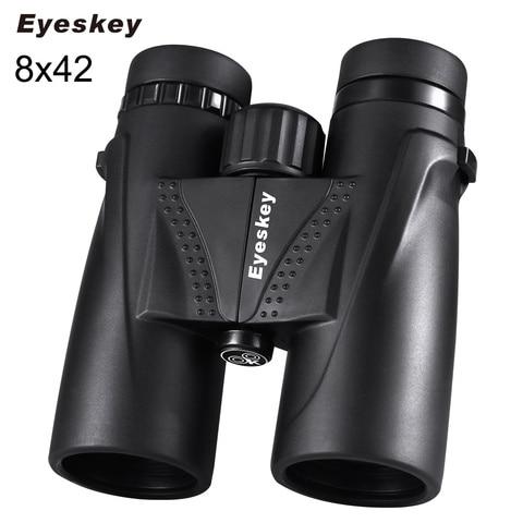 caca binoculos eyeskey 8x42 bak4 prism binoculos telescopio a prova d agua camping caca scopes