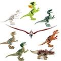8pcs / lot Dinosaurs  de Jurassic World Mini Figura do filme brinquedos blocos de montar Brinquedos Minifigures Brick para crianças brinquedos de crianças