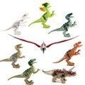 8pcs/lot legoeINGly Jurassic World Dinosaurs Building Blocks Tyrannosaurus Mini Bricks Figures Kids Toys For Children Juguete