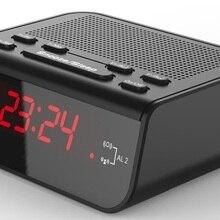 Прикроватный электронный будильник и радиоприемник портативный FM/AM радиоприемник с цифровым светодиодный дисплеем Ultimate Wakener
