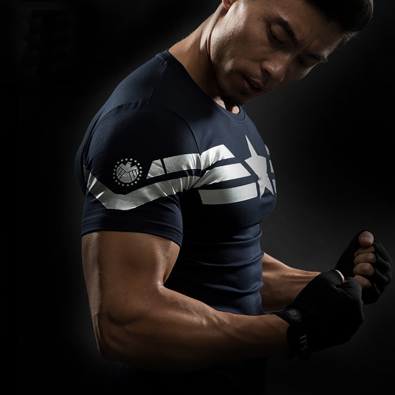 American Captain 3D Print T Shirt Men s Shirt Male CrossFit Top Avatar Super Hero Superman