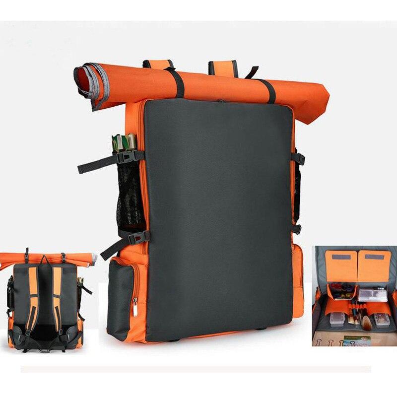Outdoor First Aid Drawing Board Bag Drawing Board Sports Gray Nylon Waterproof Bag Family Art Student Travel Sketch Bag DJJB037