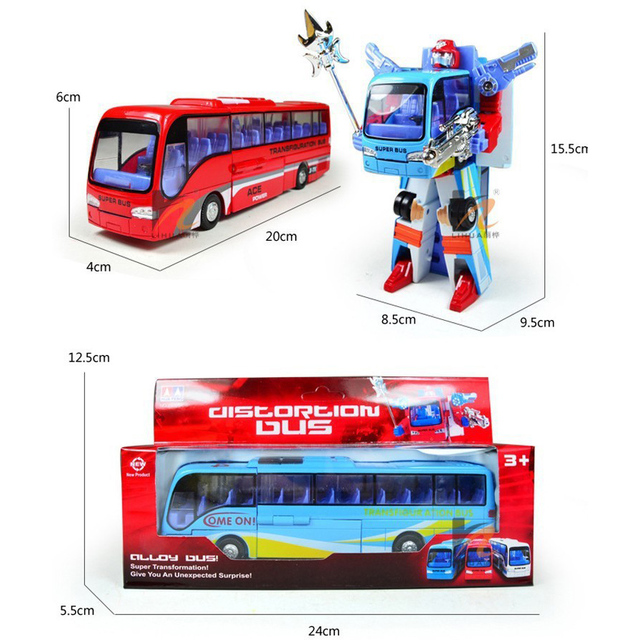 Transformation Of Police Robot Bus Toy
