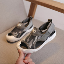 Children's sandals 2019 summer new Baotou boys sports beach shoes baby soft bottom girls big children's shoes