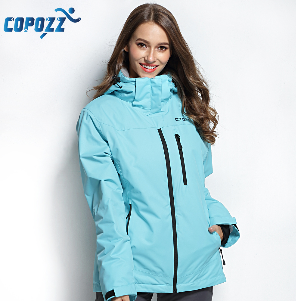 COPOZZ Ski Jacket Women Snowboard Jacket Ski Suit Female Winter Outdoor Warm Waterproof Windproof Breathable Clothes winter outdoor men and women couple waterproof breathable jacket 3in1 warm winter clothes