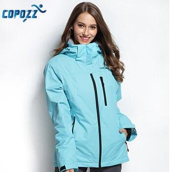 COPOZZ veste de Ski femme veste de Snowboard combinaison de Ski femme hiver extérieur chaud imperméable coupe-vent vêtements respirants