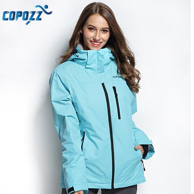 COPOZZ Лыжная куртка Для женщин сноуборд куртка лыжный костюм Женская зимняя обувь уличные теплые Водонепроницаемый ветрозащитный дышащий Одежда