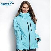 COPOZZ Ski Jacket Women Snowboard Jacket Ski Suit Female Winter Outdoor Warm Waterproof Windproof Breathable Clothes